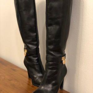 Michael Kors Shoes - Michael Kors Leather Heel Riding Boots